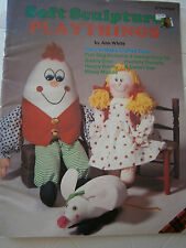 Vtg Soft Sculpture Playthings Doll Bear Humpty Dumpty Bunny Sewing Pattern Book