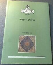 SEMENZATO TAPPETI ANTICHI NOVEMBRE  1989 SEZIONE ANTIQUARIO MILANO