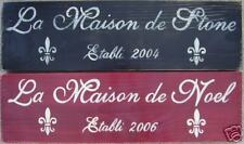FRENCH Home Family Sign Paris Flea Market Plaque CUSTOM Plaque U-Pick Color Wood