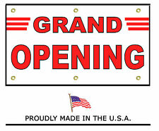 """New Grand Opening Banner 48""""X96"""" outdoor/indoor heavy duty Free Shipping"""