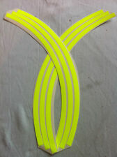 3mm wheel rim tape striping stripes stickers FLUORESCENT Yellow.(38 piece 9 p/w)