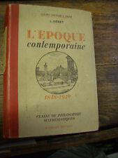 l'époque conteporaine 1848-1939 de Genet