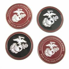 "US MARINES LOGO GOLF BALL MARKERS ""SALE TODAY"" 4 PACK SPECIAL"