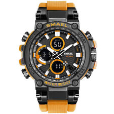 SMAEL Men Gold Watches Fashion Digital LED Wristwatch Big Face Male Quartz Watch