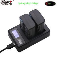 2X NP-FM500H NP FM500H Battery + Charger For Sony A57 A58 A65 A77 A99 A550 A560