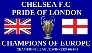 *Pre Order* Champions League Winners Chelsea 5x3ft flag *despatch Aprox 2 Weeks*