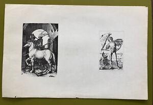 Albrecht Durer - Antique German Engraving Print - Old Master German