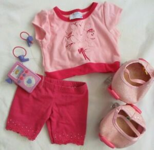 Build a Bear Outfit (top/shorts - Rollerskates - Walkman)