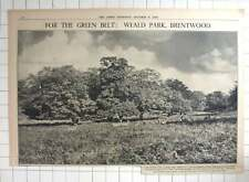 1936 Weald Park Brentwood, Purchased For Green Belt