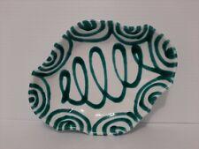 Gmundner Keramik Austria Dizzy Green Ceramic Candy Dish In Excellent Condition