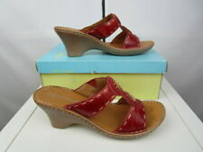 Mod Comfy Ladies leather Mule sandal. Flexible.soft sole. Summer holiday Uk7