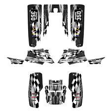 Yamaha Banshee 350 graphics full coverage sticker kit #3500 Gray Metal