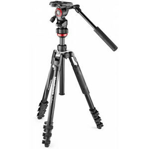 Manfrotto MVKBFRL-LIVE BeFree Live  Aluminum Tripod, No Fees. EU Seller. NEW!