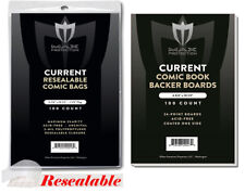 1000 Current Resealable Comic Bags and Boards Max Pro Modern Archival Storage