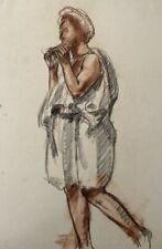 NOEL FEUERSTEIN (1904-1998) BELLE SCENE ALLEGORIQUE SANGUINE VERS 1940 (25)