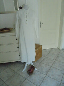 Lässiges langes Kleid/Maxikleid aus Italien, weiß, Gr.S 36/38,Sommerkleid/Kaftan