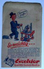 """Excelsior Absätze Rechnung Papiertüte """"So vorsichtig..."""" Werbung Reklame alt"""