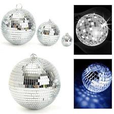 40-100mm Silver Glitter Lightweight Mirror Disco Parties DJ Ball Mirrored Glass 80mm