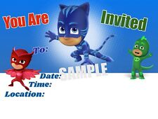 PJ Masks Party Invitations with matching envelopes, birthday, 12pack