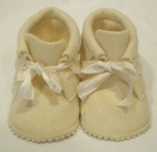 Vintage Wee Walker Shoes Baby Deer Cream 100% Wool Baby Shoes NIB Not Mint
