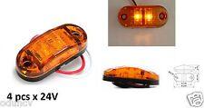 4 Stück 24V 2 LED Seiten Markierungsleuchten bernsteinfarben für LKW Mercedes