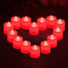 1Pc Candles Tealights Led Light Flameless Flickering Wedding With Battery Red HI