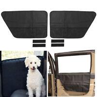 2pcs Dog Pet Barrier Car Door Protector Scratch and Dirt Mesh Holder for Car