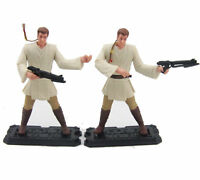 "Lot 2x Star Wars 1999 Obi-Wan Kenobi Episode 1 Jedi duel Hasbro Figure 3.75"" toy"