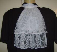 White Lace Jabot Victorian Georgian Regency Collar Cravat Fancy Dress Costume