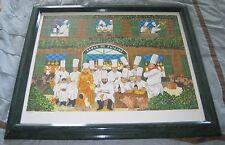 """Guy Buffet """"Ecole de Cuisine"""" Signed LE 69/500 Serigraph 28x33"""" art print"""