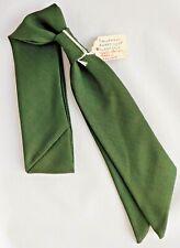 VINTAGE 1960s Ready-Knot Foulard da Collo Sciarpa per Bambini Verde Oliva Boy Girl inutilizzati