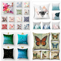 Flower Butterfly Decor Soft Cushion Cover Pillow Case Home Decor Pillow Covers