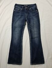 Silver Suki Womens Dark Wash Boot Cut Jeans Size 26x29