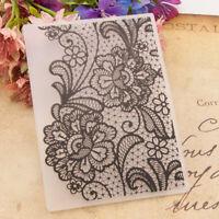 Spitze Blumen Kunststoff Prägung Ordner DIY Scrapbooking Paper Card Making Decor