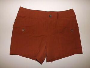 MARMOT Womens Terracotta Orange Lightweight Shorts NWT Size 4