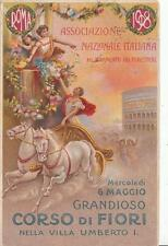 9569) ROMA 1908, GRANDIOSO CORSO DI FIORI NELLA VILLA UMBERTO I. VIAGGIATA.