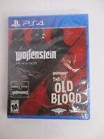 Playstation 4 PS4 Wolfenstein The New Order and The Old Blood NEW Factory Sealed