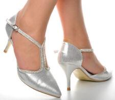 40 Scarpe da donna cinturini, cinturini alla caviglia in argento