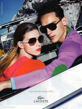 Publicité Advertising 2011  LACOSTE  lunette collection mode