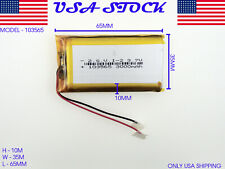3.7V 3000mAh 103565 Lithium Polymer LiPo Rechargeable Battery (USA STOCK)