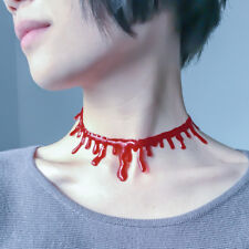 1PC Punk Halloween Horror Blood Drip Choker Necklace Cosplay Party Joke Necklace