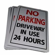 No Parking Driveway in Use 24 Hour Sign Aluminium Outdoor 315mm X 220mm