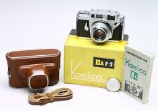 KONICA IIIA 35MM FILM RANGEFINDER CAMERA - BOXED, MINTY