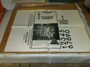 STAR WARS(1977)HARRISON FORD ORIGINAL AD MATT SECTION FOR OSCARS ADVERTISING