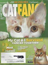 Cat Fancy Magazine (Nov 2014) Cute Clown Devon Rex ~ Common Cat Cancers ~F535