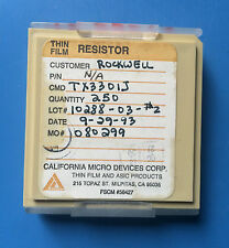 TX3301J CALIFORNIA MICRO DEVICES RESISTOR THIN FILM ASIC 250/units total