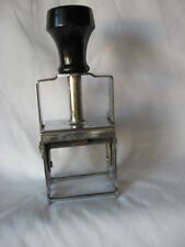 Check Endorsement Stamping Machine Vintage Eagle Zephyr Self Inking  Made in USA
