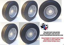 "5 17.5"" inch 16 ply Radial 215 75 17.5 Trailer Tire & Wheel 8 lug H Goodride"