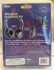 Dual Wireless SRV Headphones 3-in 1 Function NEW