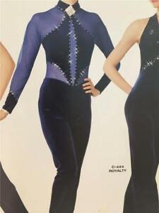 Dance Costume Tap Jazz Medium Child Skate Pageant Jumpsuit Art Stone Big Spender